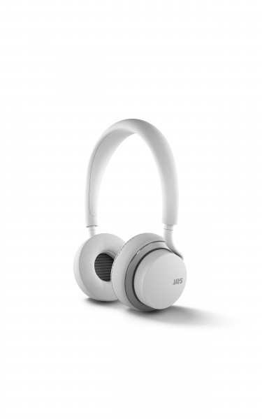 Jays U-JAYS Apple remote on-ear headphones in White and Silver